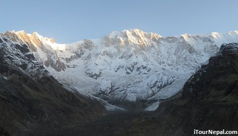 Annapurna I during the sunrise