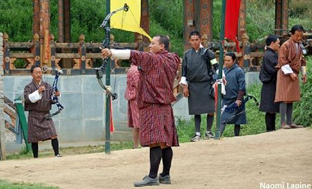 Archery is the national sport of Bhutan