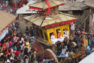 Bisket Jatra festival is celebrated during Nepalese new year and spring festival.