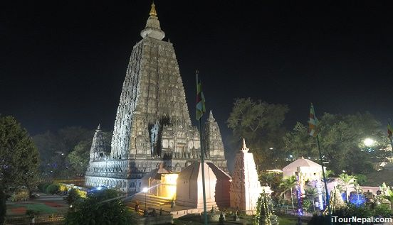 Mahabodhi temple of Bodhgaya where Buddha attained enlightenment.