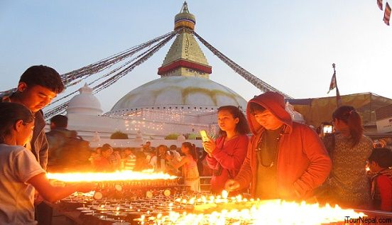Boudhanath on the evening of Buddha Purnima