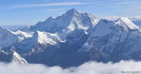 Veiw of Mt Everest from Everest sightseeing flight