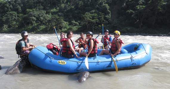Trishuli Rafting on the way to Chitwan