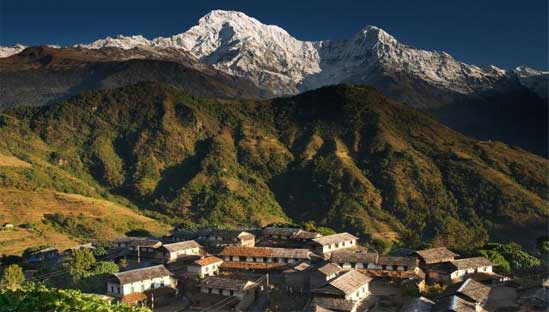 Gurung village of Ghandruk in the foothills of Annapurna Himalayas