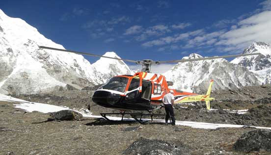 Helicopter tour of Everest base camp.