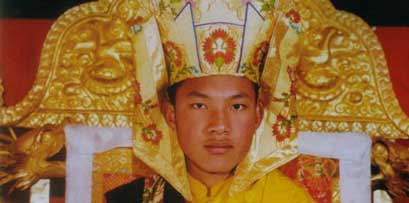 Karmapa Urgyen Trinley, the 17th incarnation of Karmapa Lama and head of Karma Kagyu linage of Tibetan Buddhism.