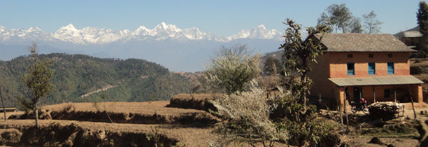 view from Nagarkot hiking around Kathmandu
