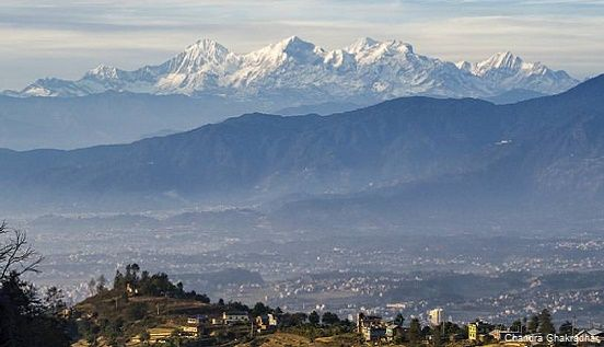 Himalaya seen during 5 days Kathmandu tour with hiking.