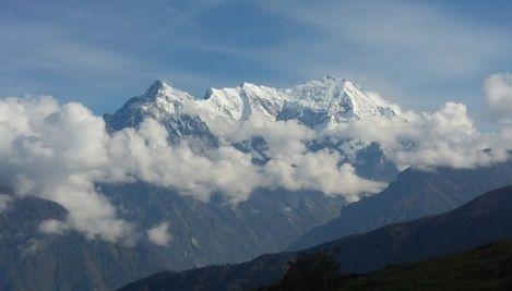 Langtang Lirung from Lauribinayak