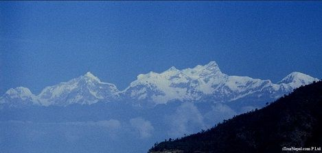 Mt Manaslu seen from Manakamana and Gorkha