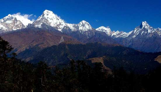 View from short trek to Mohare danda and Ghorepani