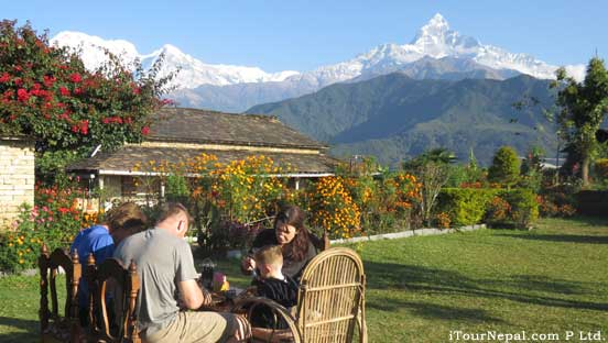 Nepal tour with short trek around Pokhara with comfortable lodge.