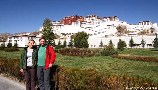 Visit of Potala palace in Lhasa