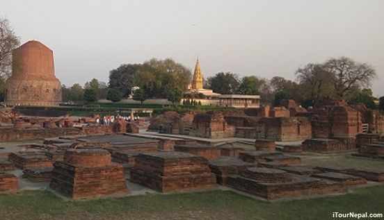 Sarnath Dhamek stupa and mulagandha kuti