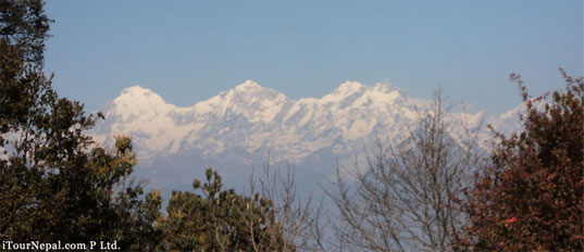 Ganesh Himal seen from the top of Shivapuri hill north of Kathmandu