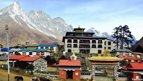 Tengboche monastery in Everest ( sagarmatha ) national park