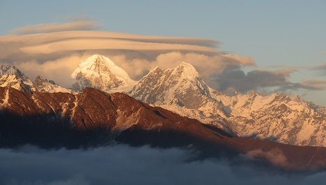 Jugal Himal range seen from Thadepati.