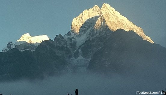 Mt Thamsherku seen during short Everest trek in October