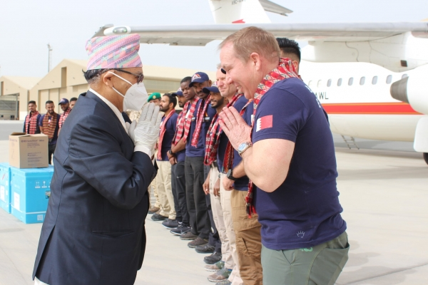 Bahraini Prince arrives in Nepal to scale Mt Everest